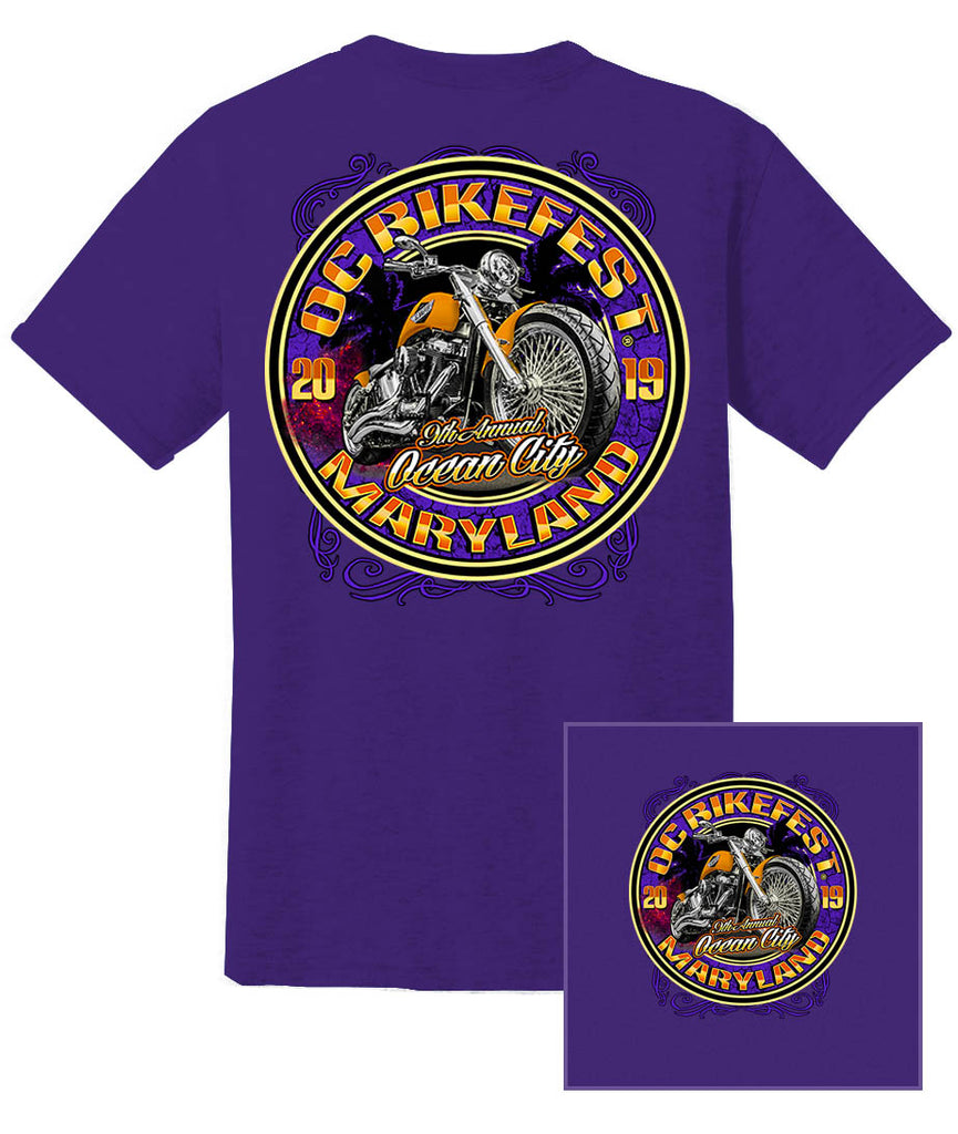 2019 OC BikeFest Bike  Purple T-Shirt
