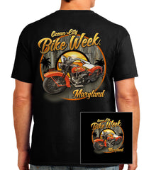 2016 OC BikeFest Tropical Bike Black  T-shirt