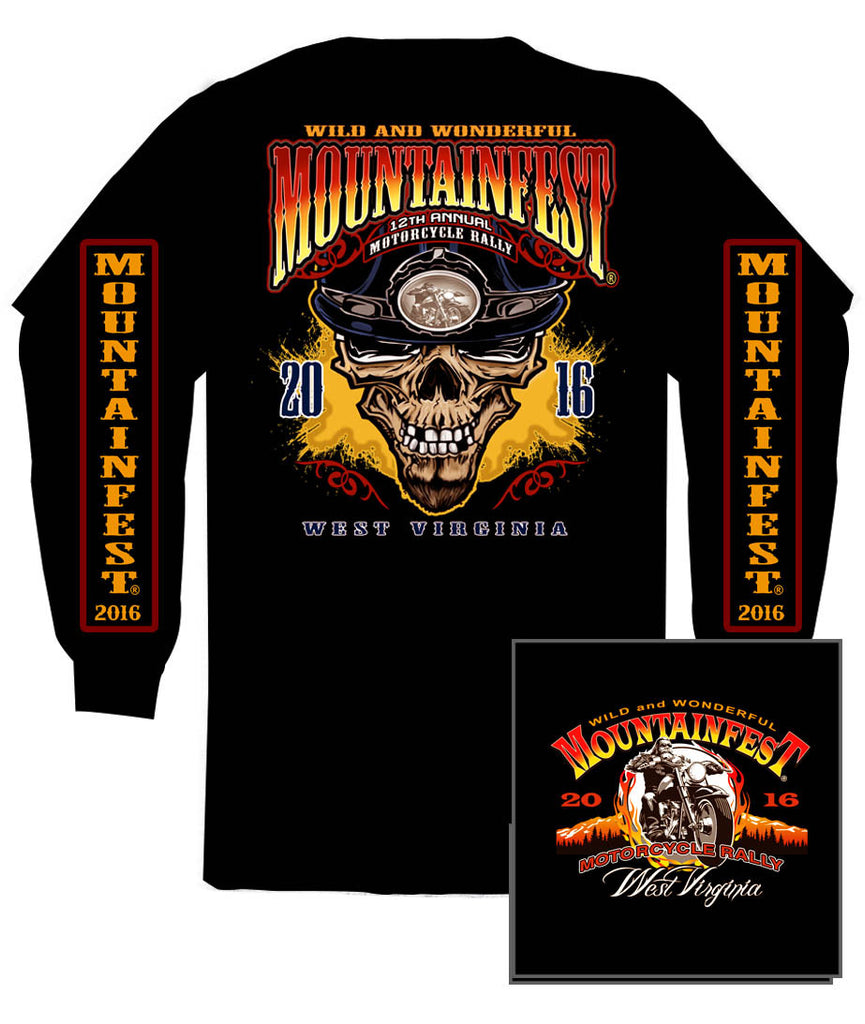2016 MountainFest #1 Design Black Long Sleeve