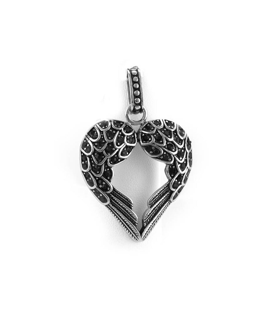 Heart Wings Stainless Steel Pendant