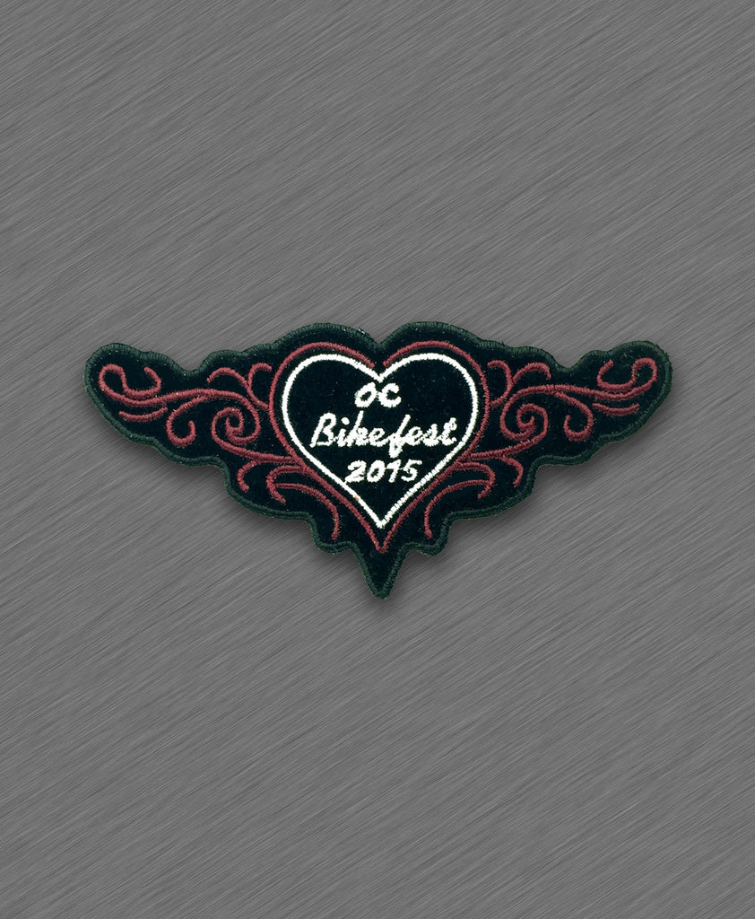 2015 OC BikeFest Red Heart and Tribals Patch