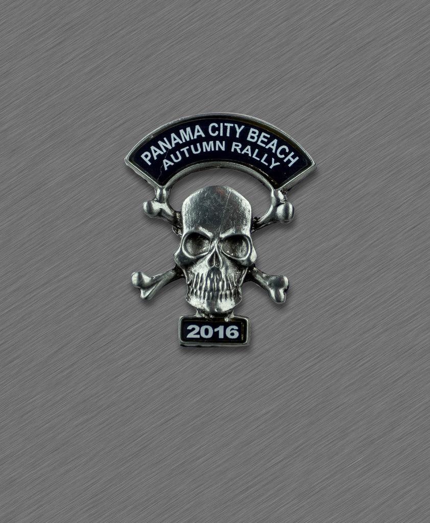 2016 Autumn Thunder Beach  Pin - Skull with Crossed Bones
