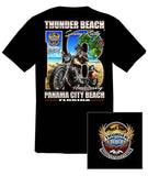 2016 Spring Thunder Beach #1 Design Black T-Shirt