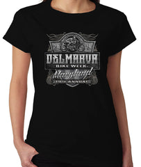 2019 Delmarva Shield  Crew Neck Black Ladies Top
