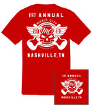 2017 Music City Motorcycle Rally #1 Design Red T-Shirt