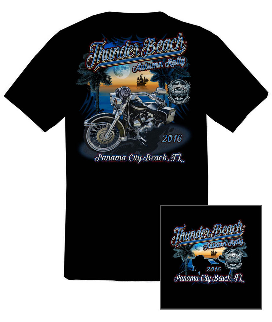 2016 Autumn Thunder Beach #1 Design Black T-Shirt