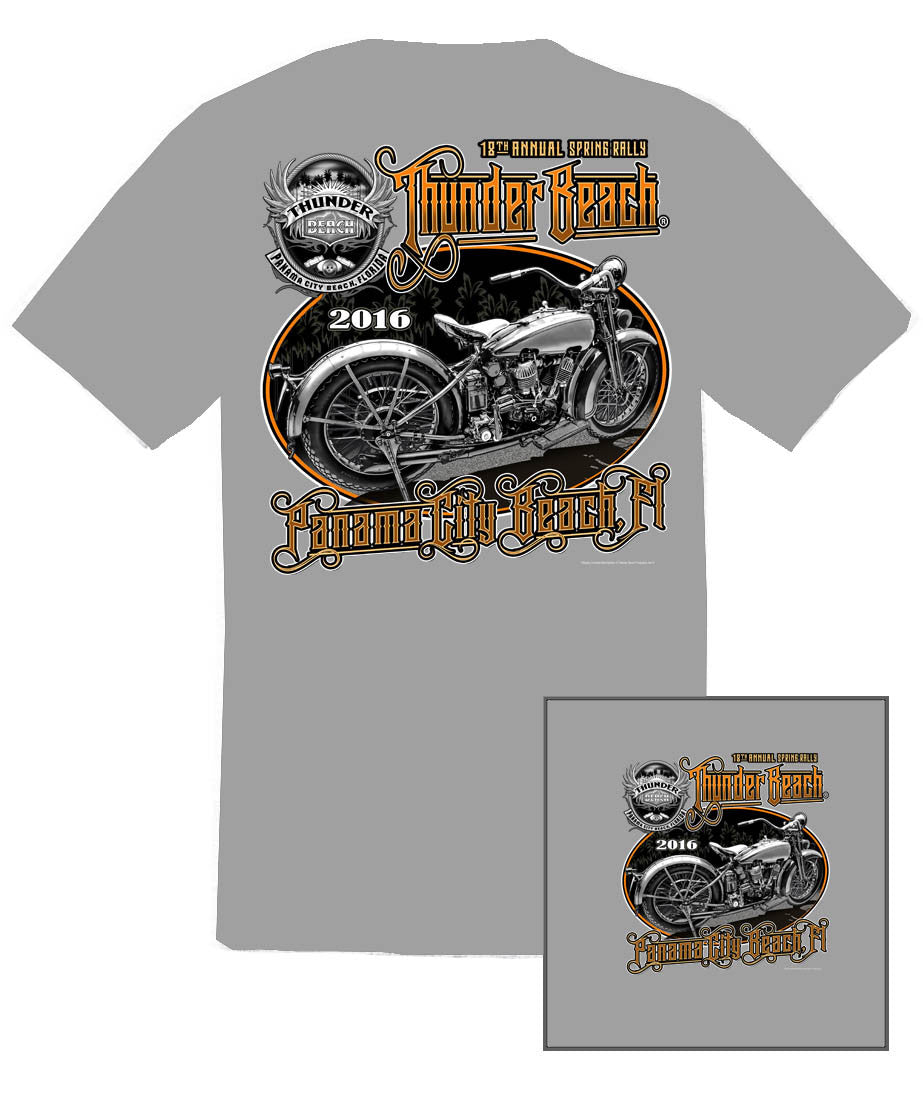2016 Spring Thunder Beach 201620 Ice Grey T-Shirt