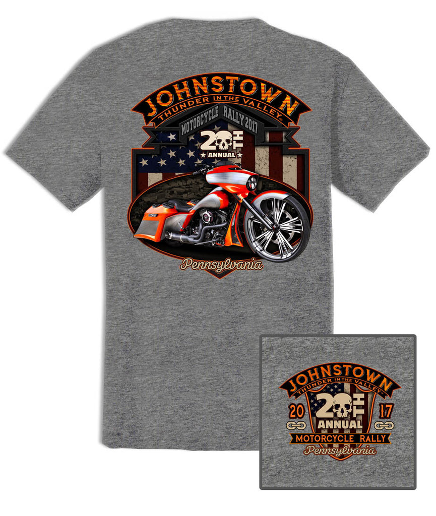 2017 Thunder in the Valley Bagger Heather Grey T-Shirt