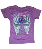 2017 OC BikeFest Angel Wings Lavender Top