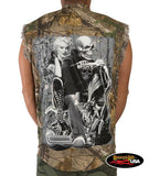 Ghost Rider Marilyn Cut Off Denim Shirt