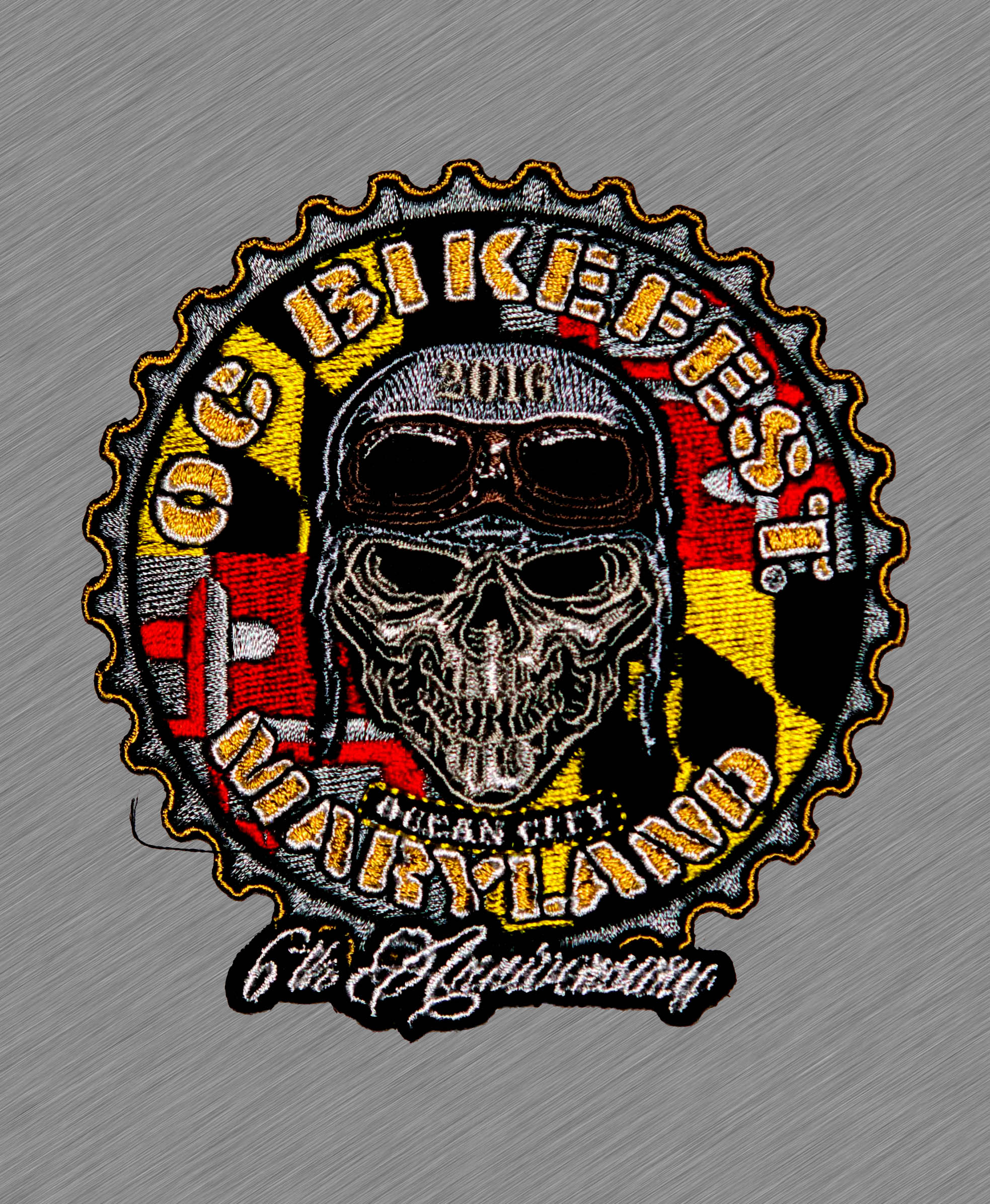 2016 OC BikeFest Maryland Flag Patch