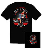 2019 OC BikeFest Pin Up Girl Black T-Shirt