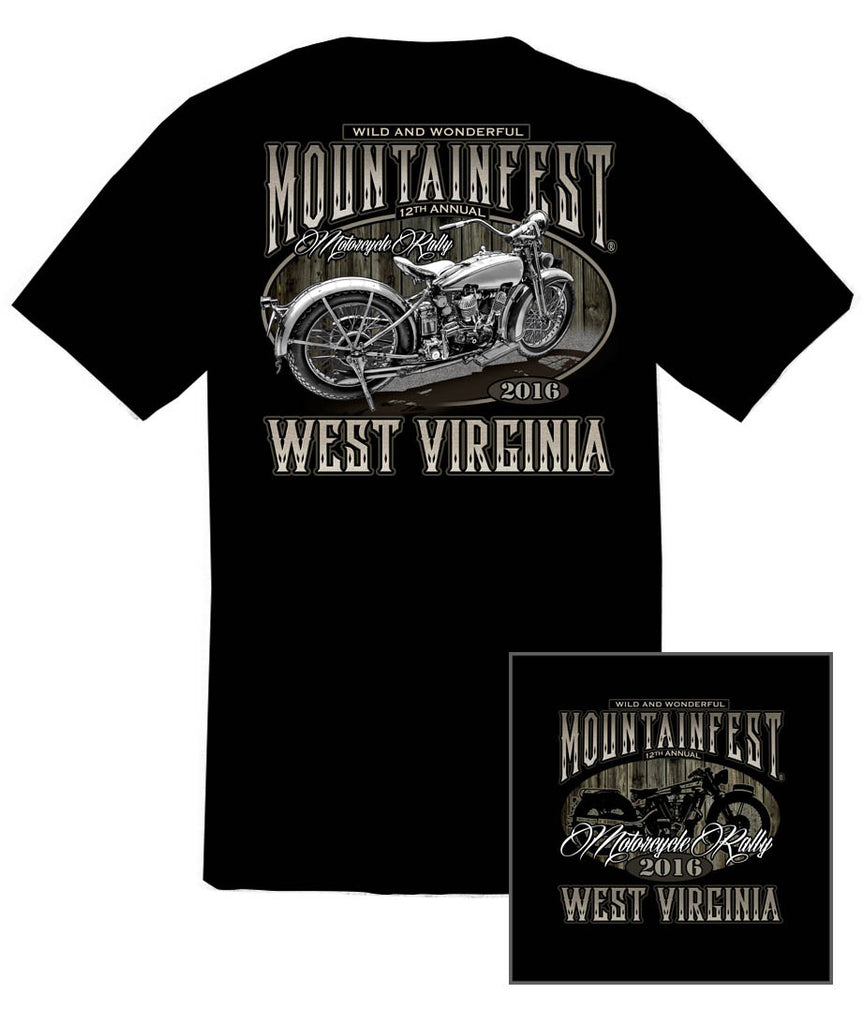 2016 MountainFest Bike Black T-Shirt