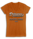 2017 Delmarva LOGO  Orange Ladies V-Neck  Top