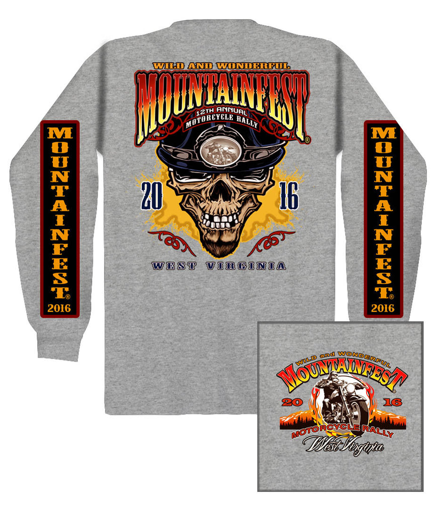 2016 MountainFest #1 Design Sport Grey Long Sleeve