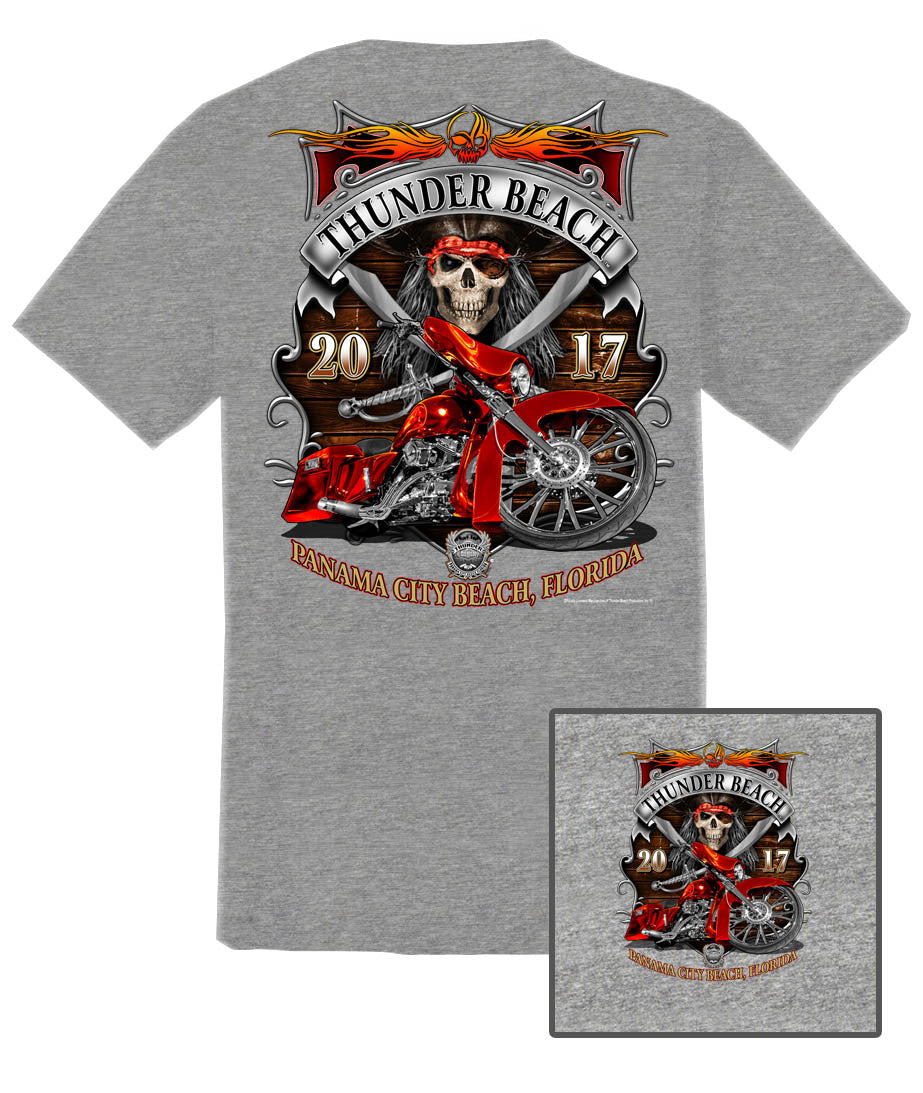 2017 Spring Thunder Beach Pirate Bagger Heather Grey T-Shirt