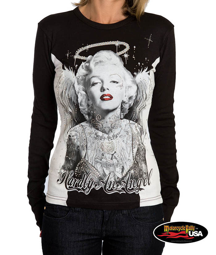 Hardly an Angel Marilyn Two Tone Long Sleeve