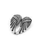 Large Wings Stainless Steel Pendant