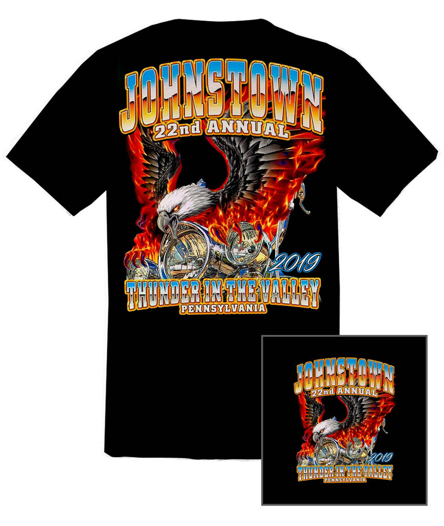 2019 Thunder in the Valley Eagle with Flames Black T-Shirt