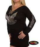 Live to Ride Eagle Long Sleeve with Chains