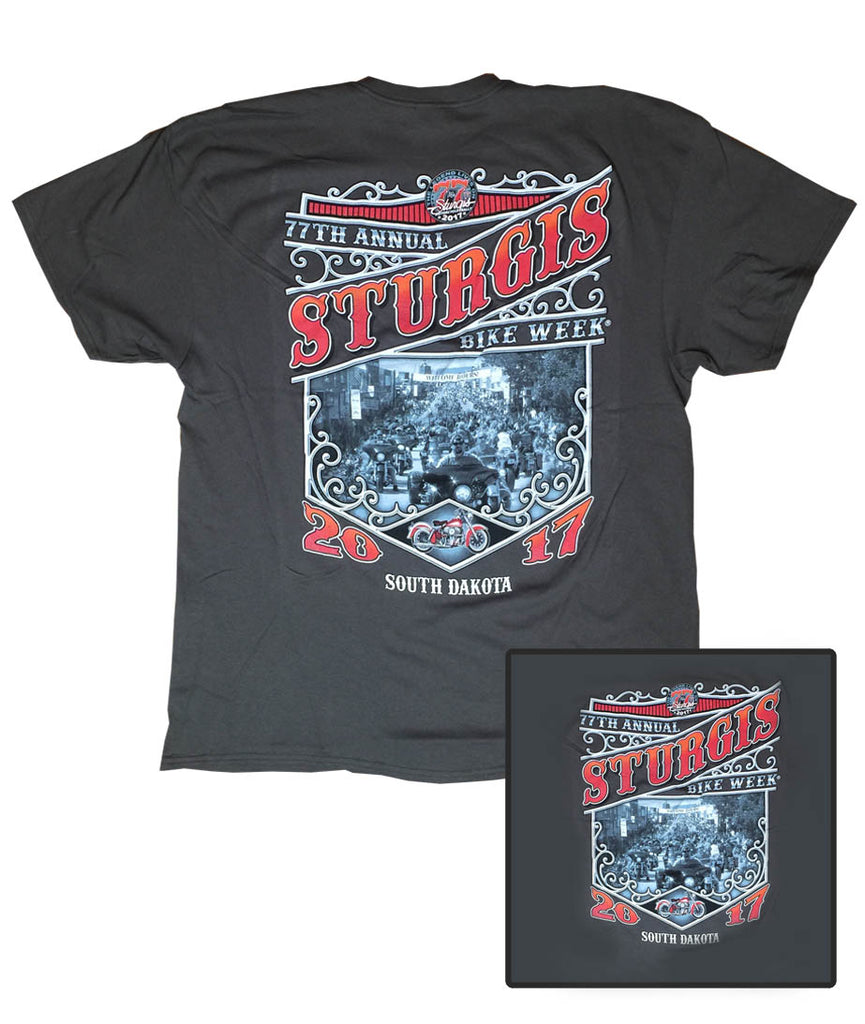 2017 Sturgis Main St. Charcoal T-Shirt