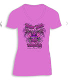 2018 Thunder Beach Wings Pink Burnout Ladies Top
