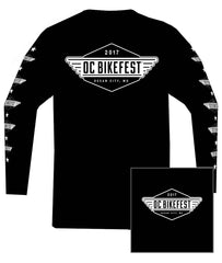 2017 OC BikeFest LOGO Black Long Sleeve Shirt