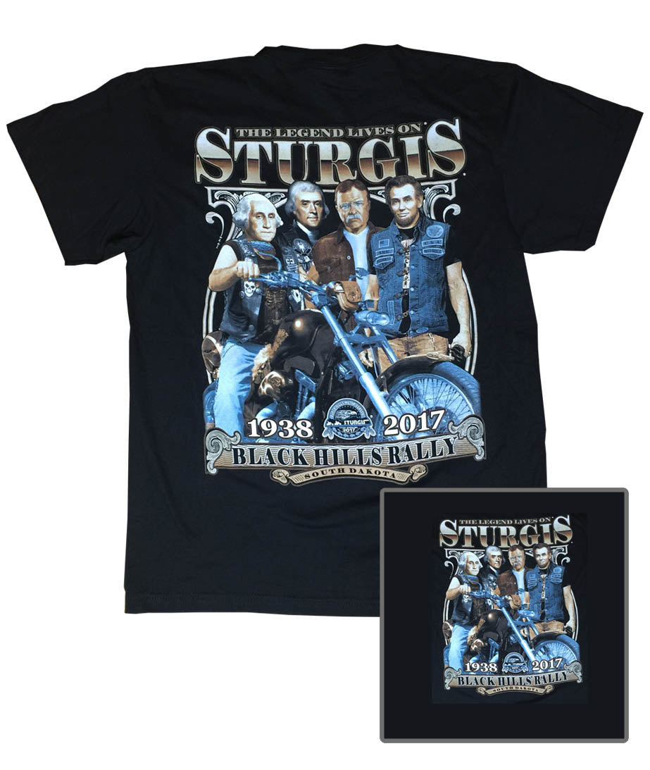 2017 Sturgis Presidents Black T-Shirt