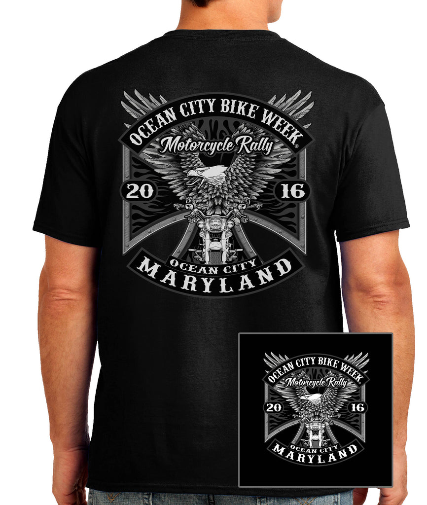 2016 OC BikeFest Eagle Black T-shirt