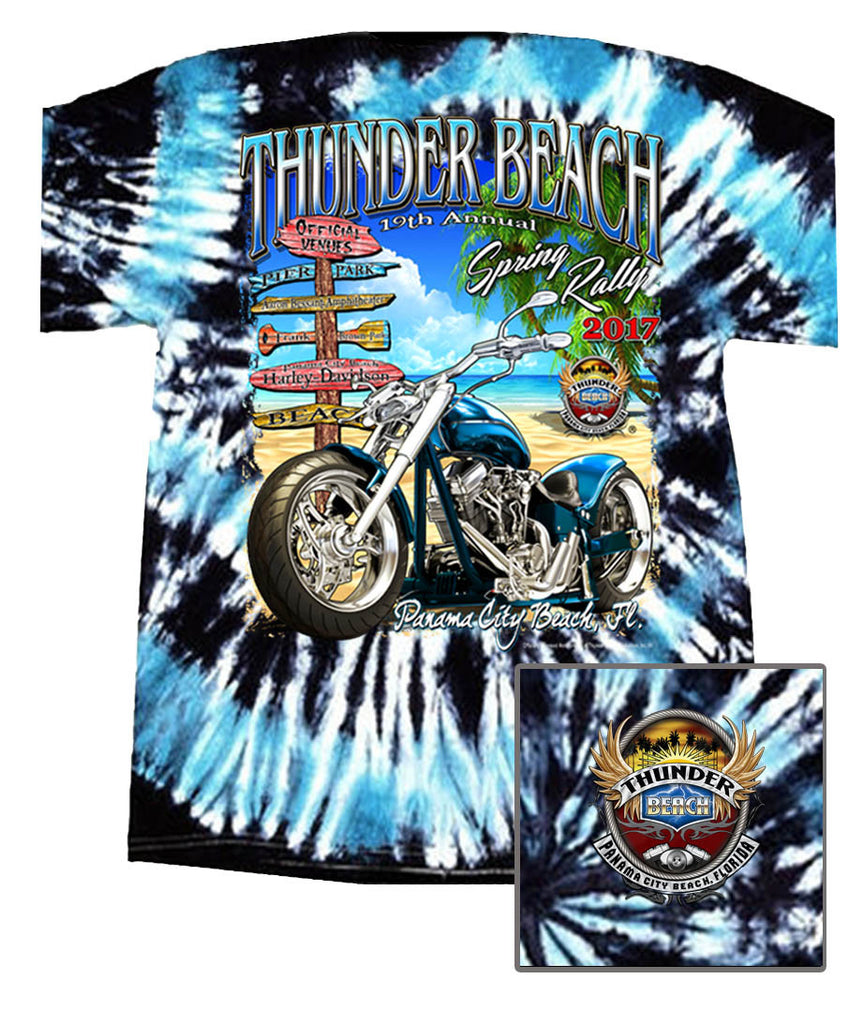 2017 Spring Thunder Official Venues Deep Sea Tie Dye T-Shirt