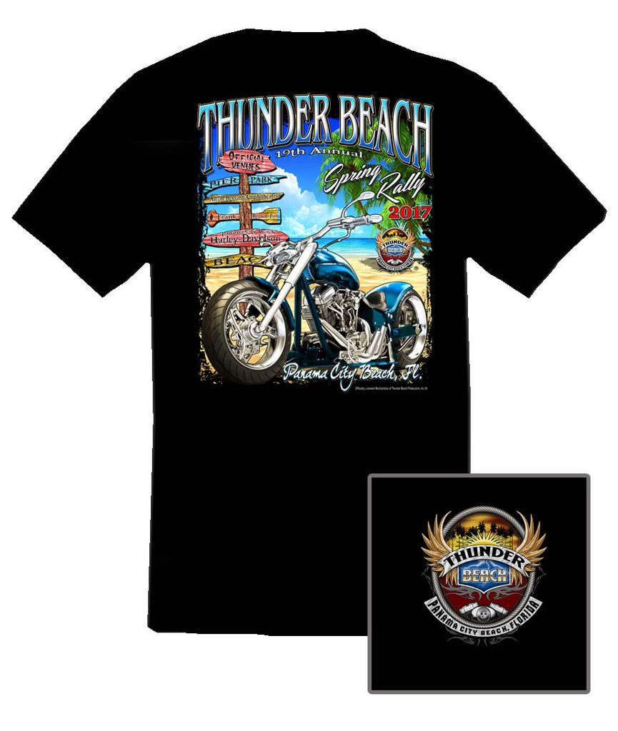 2017 Spring Thunder Beach Official Venues Black T-Shirt