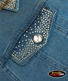 American Eagle Custom Rhinestone Denim Jacket
