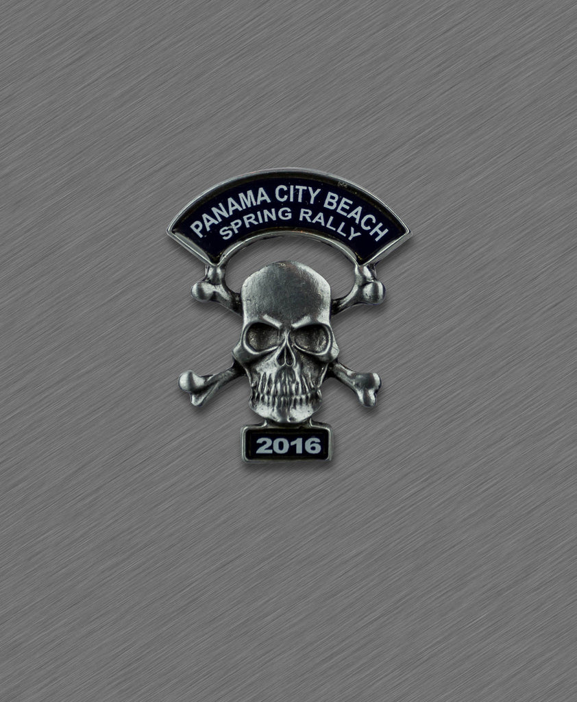 2016 Spring Thunder Beach Pin - Skull with Crossed Bones