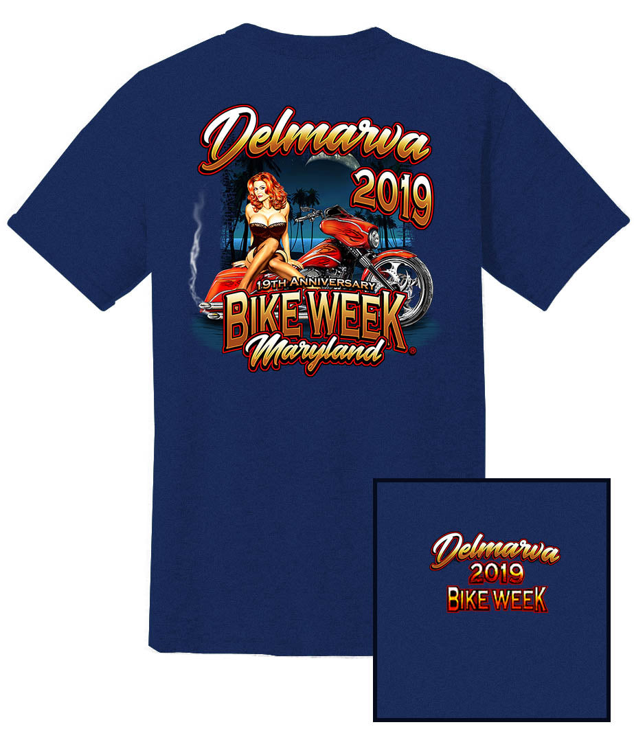 2019 Delmarva Pin Up Girl Denim Blue T-shirt