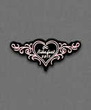 2015 OC BikeFest Pink Heart and Tribals Patch
