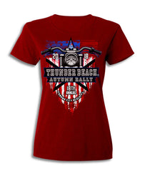 2018 Autumn Thunder Beach American Flag Red Ladies Top