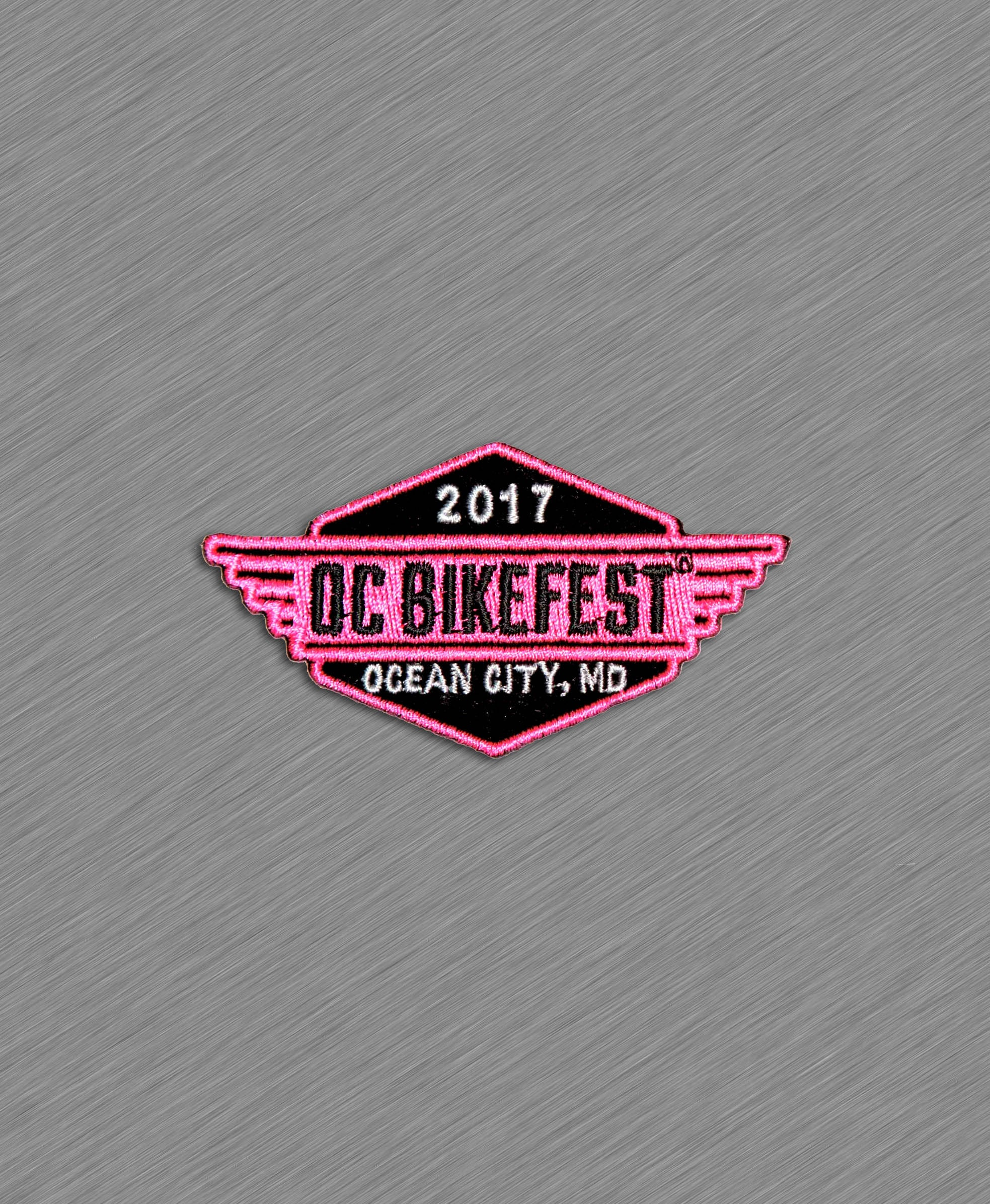 2017 OC BikeFest Official Patch -  PINK