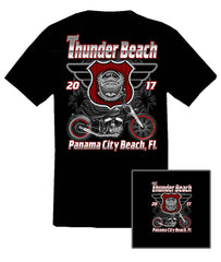 2017 Spring Thunder Beach Retro Black T-Shirt