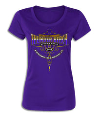 2018 Autumn Thunder Beach Trivals Purple O-Neck Ladies Top