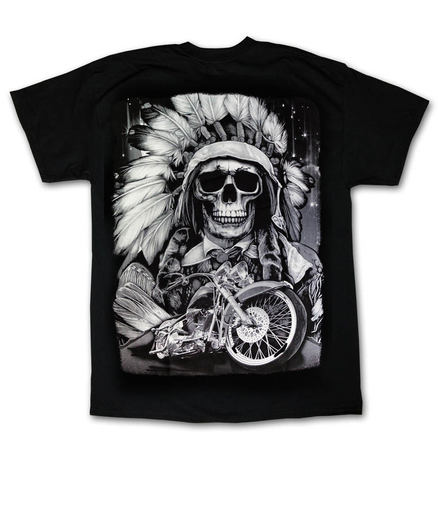 Indian Skull Black T-Shirt