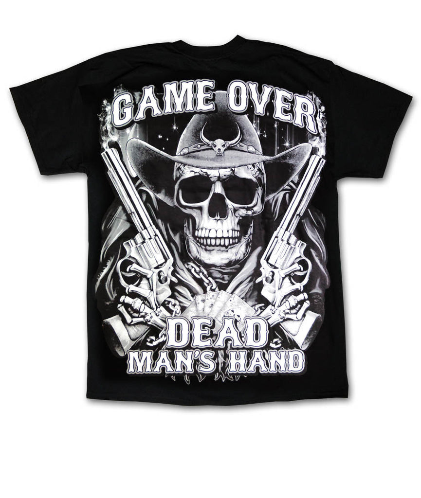 Game Over Dead Man's Hand Black T-Shirt