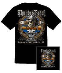 2019 Spring Thunder Beach #1 Design Black T-Shirt