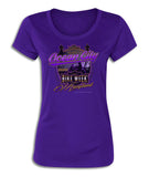 2018 OC Bike Week Boardwalk Purple  Ladies Top