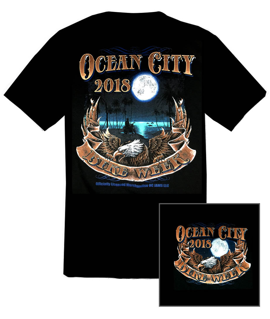 2018 OC Bike Week Full Moon Black T-Shirt