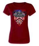 2018 Delmarva American Flag Red Ladies Top