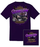 2018 OC Bike Week Boardwalk Purple T-Shirt