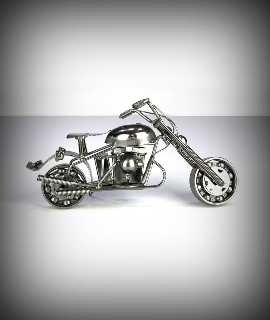 "9"" Collectors Decorative Metal Motorcycle"