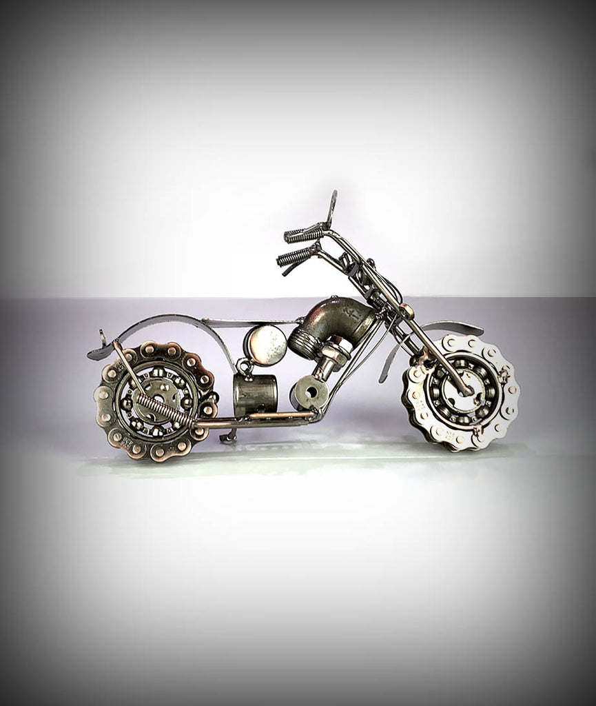"9.5"" Collectors Decorative Metal Motorcycle"