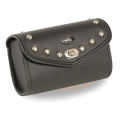 Small PVC Studded Windshield Bag