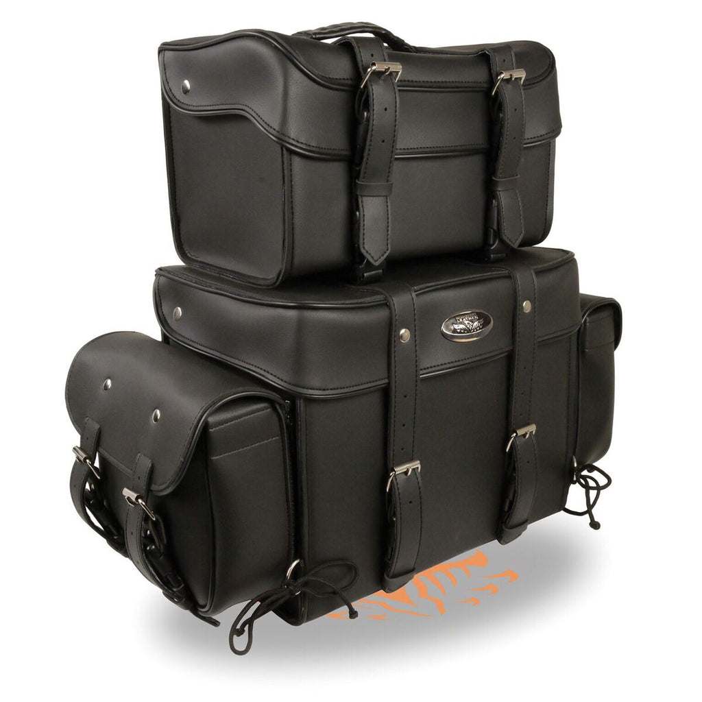 Large Four Piece PVC Touring Pack with Barrel Bag